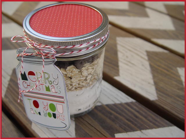 Christmas recipes in a jar gift tags