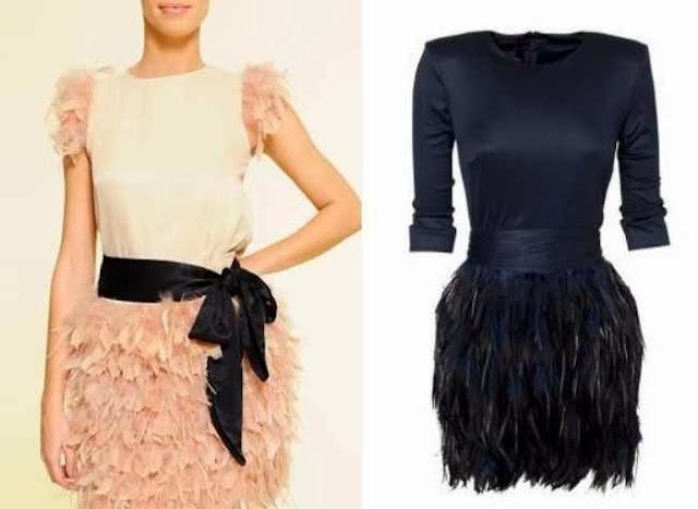 faldas de plumas