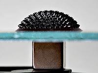 Ferrofluid with magnet below