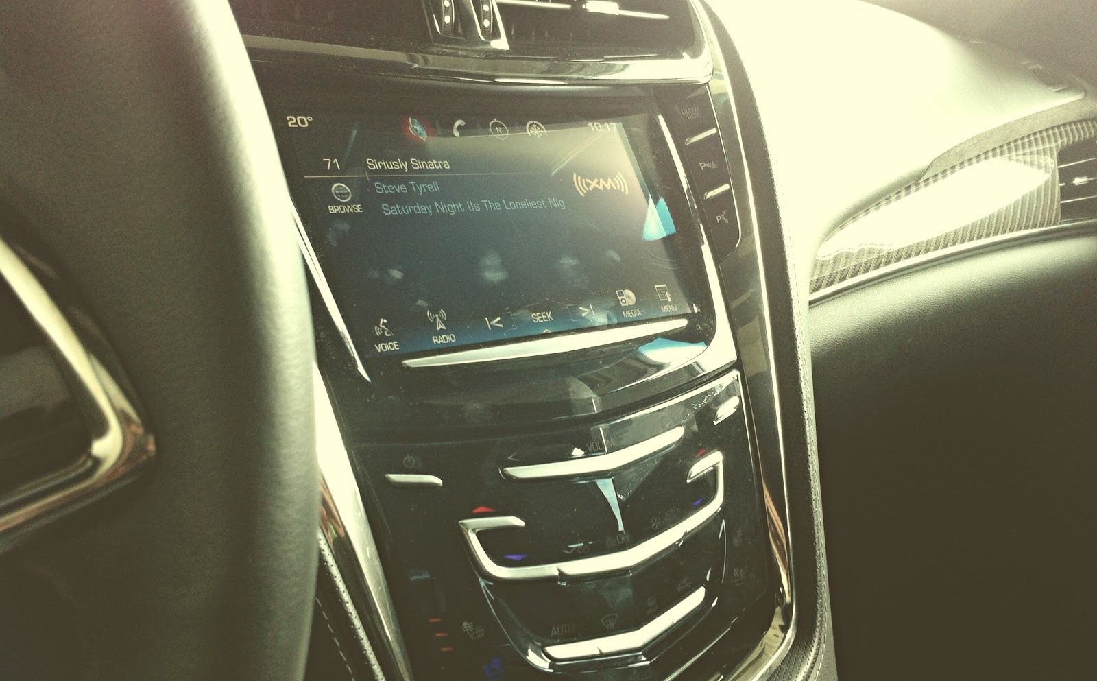 2014 Cadillac CTS control panel