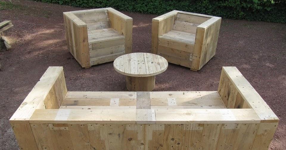 Set de muebles para el jard n con - Trabajar con palets ...