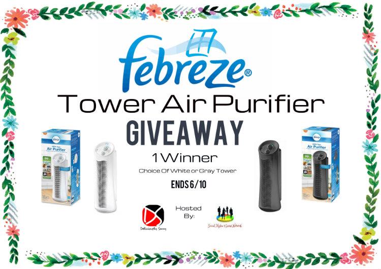 Febreze Tower Air Purifier Giveaway