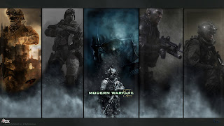 Modern Warfare 2 Army Soldier Riffle HD Wallpaper Desktop PC Background