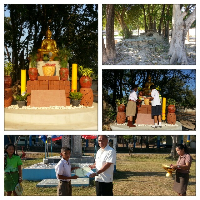 สร้างพระพุทธรูปประจำสถานศึกษาโรงเรียนบ้านทุ่งกระถิน