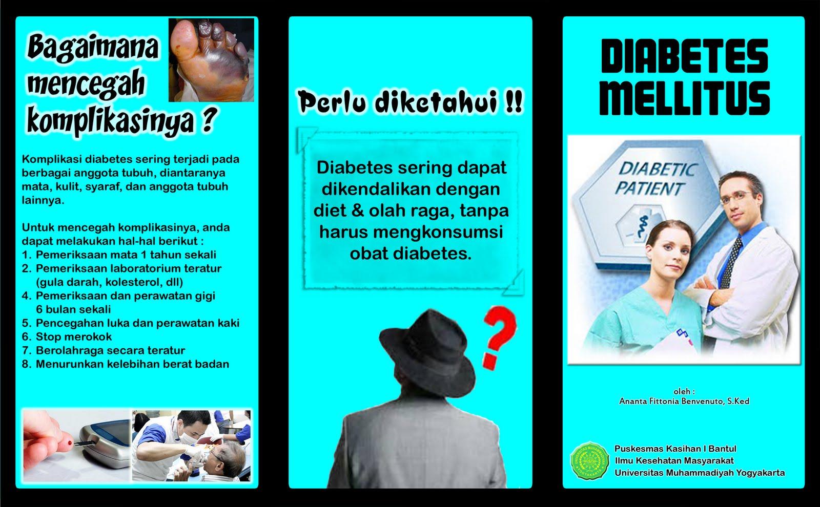 Diabetes Mellitus Leaflet front page (Colour version) ~ My ...