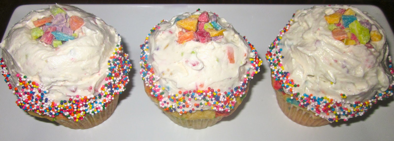... : Homemade Funfetti Cupcakes with Whipped Rainbow Chip Buttercream