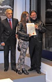"""Lídia Ruano ganadora del Premio Becas para Pintores """"Feliciano Suárez"""" 2012-2013."""
