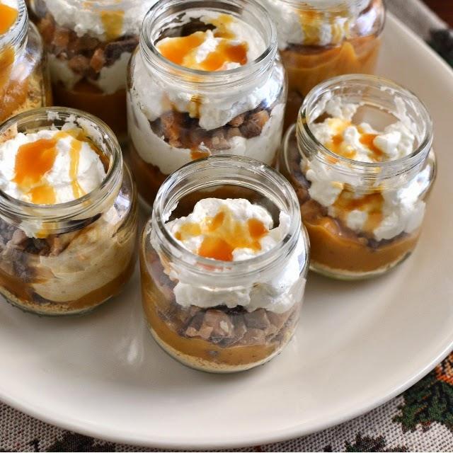Individual Pumpkin Pies in Baby Food Jars