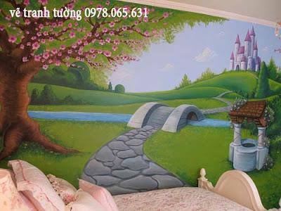 tranh tường cho bé