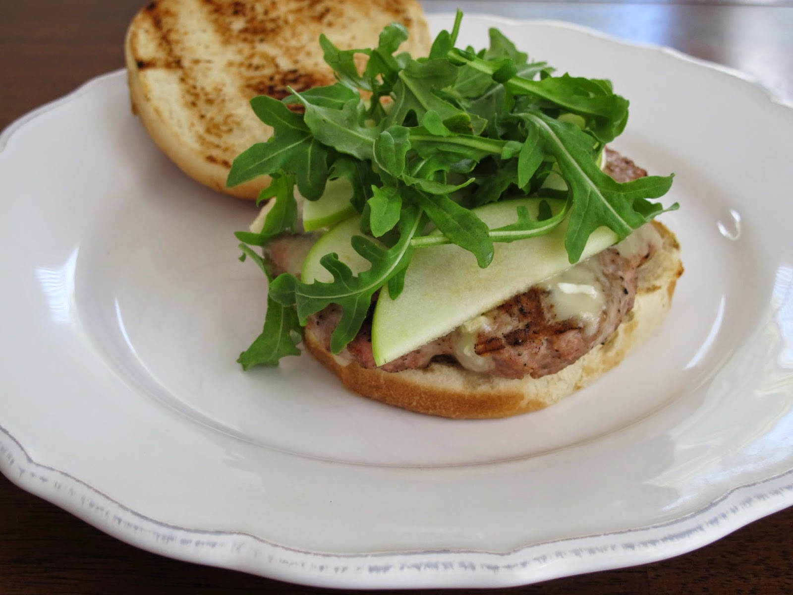 Turkey Burgers with Green Apples & Brie