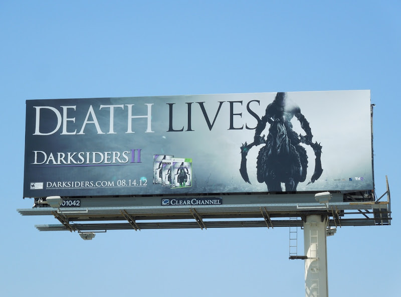 Death Lives Darksiders II game billboard