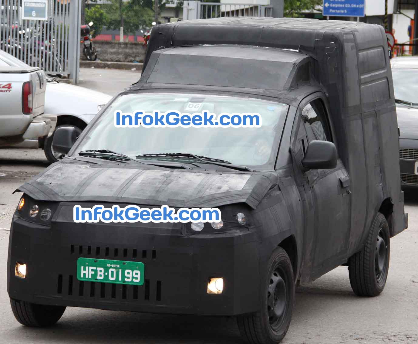 Nueva Fiat Fiorino 2014 haciendo pruebas en Brasil
