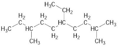 atom C primer, sekunder, tersier, dan kuartener yang terdapat dalam hidrokarbon