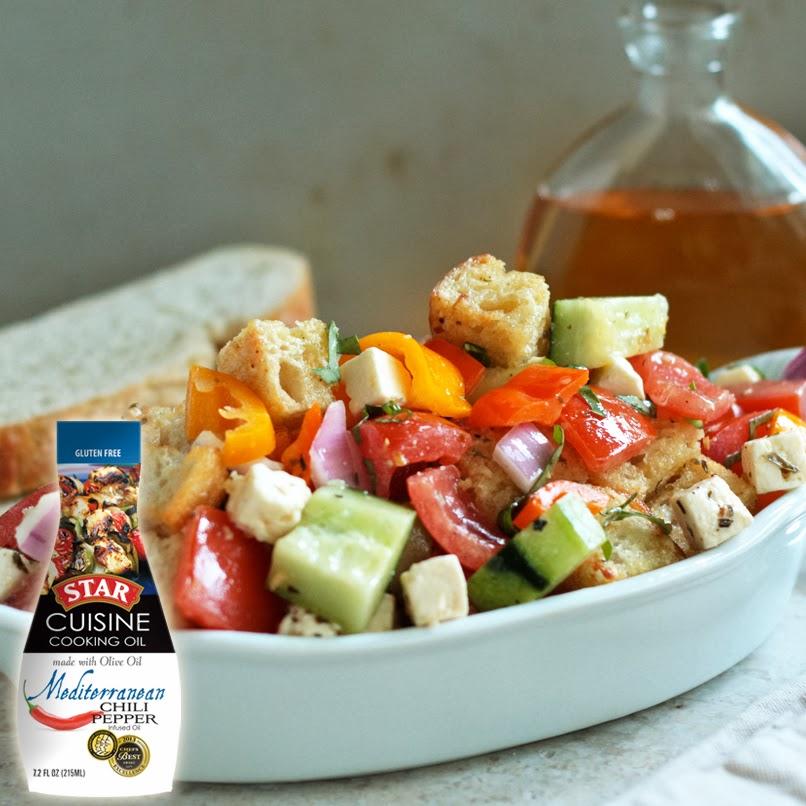 Mediterranean Pepper Panzanella