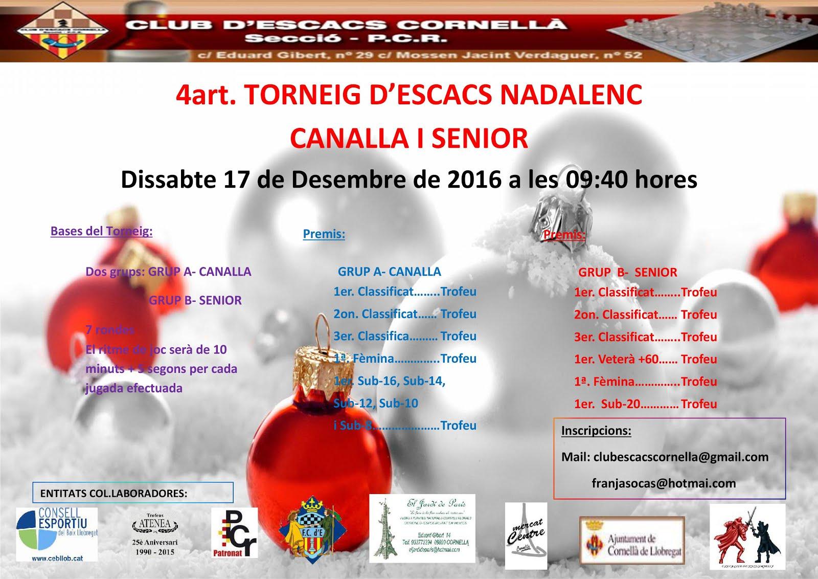 4art. Torneig Nadalenc Canalla i Senior 2016
