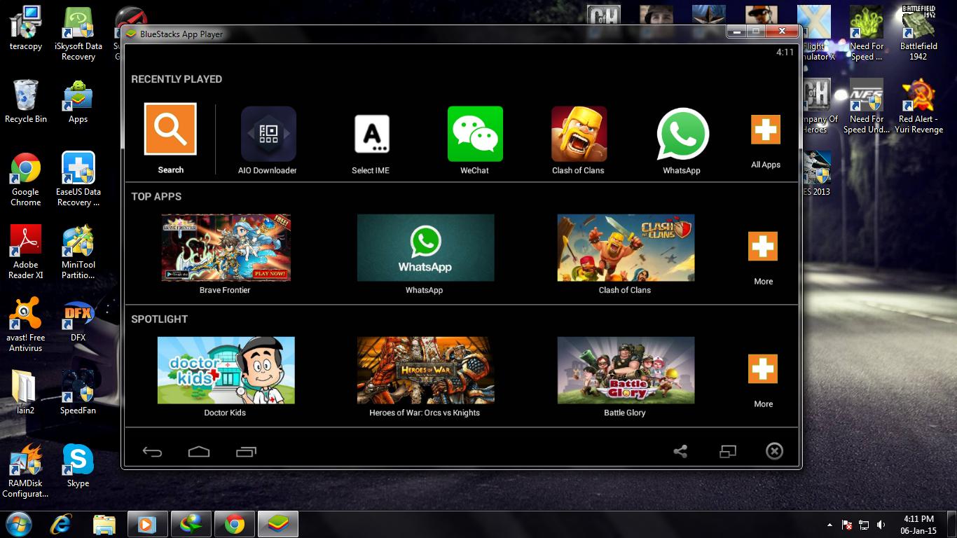 Android di PC menggunakan Bluestacks