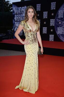 Nina Dobrev Flaunts Cleavage at World Music Award Dresses