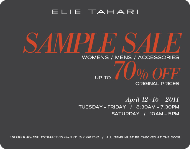 Elie Tahari Archives   My Life on and off the Guest List