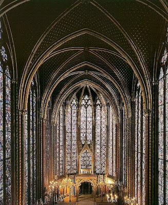 Sainte-Chapelle vista do côro