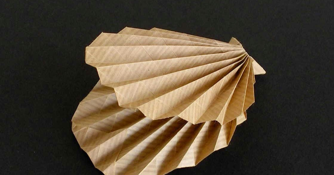Make A Origami Clam Origami Instructions Art And Craft Ideas