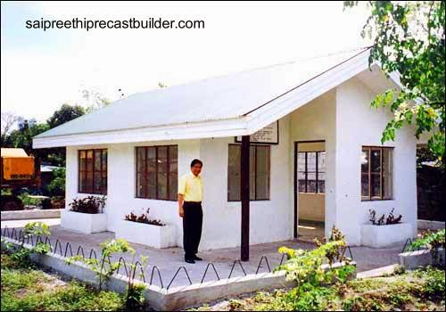 Casa económica de material premoldeado levantada en la India