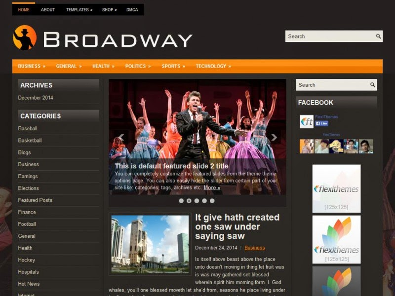 Broadway - Free Wordpress Theme
