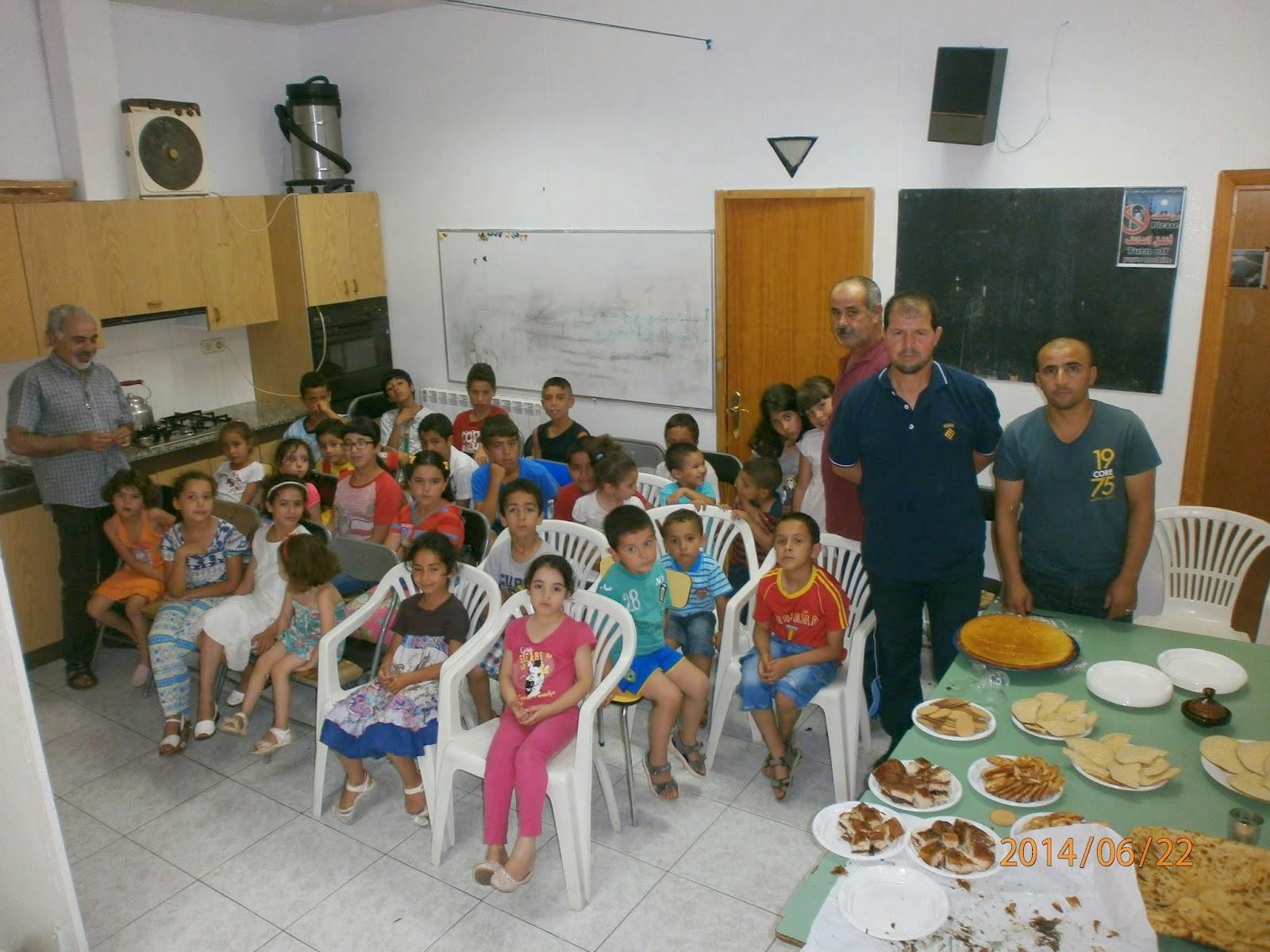 El Pasado Domingo Dia  De Junio De  La Comunidad Islamica De Ponts Mezquita Annour Celebro La Fiesta De Fin De Curso Escolar   De Arabe Y