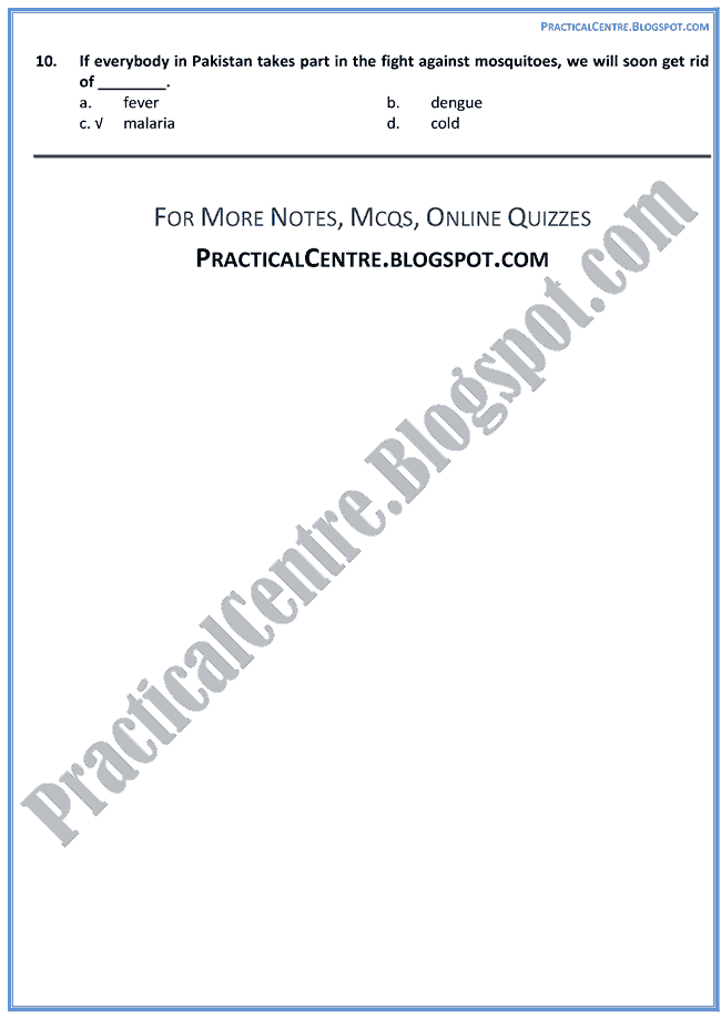 health-is-wealth-mcqs-multiple-choice-questions-english-ix
