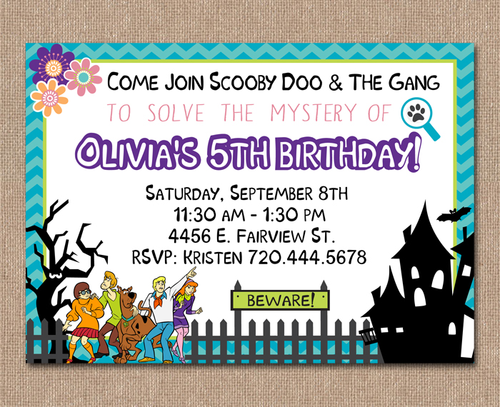 Kimberly J Design Scooby Doo Party – Scooby Doo Party Invitations
