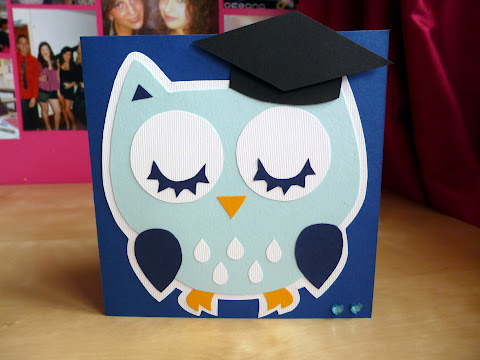 DIY owl gradutation card