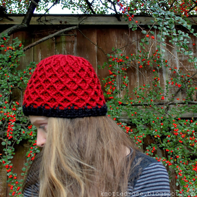 Grace Lace Beret and Lattice Hat Red Fez