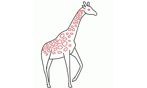 How to draw giraffe print for Giraffe draw something