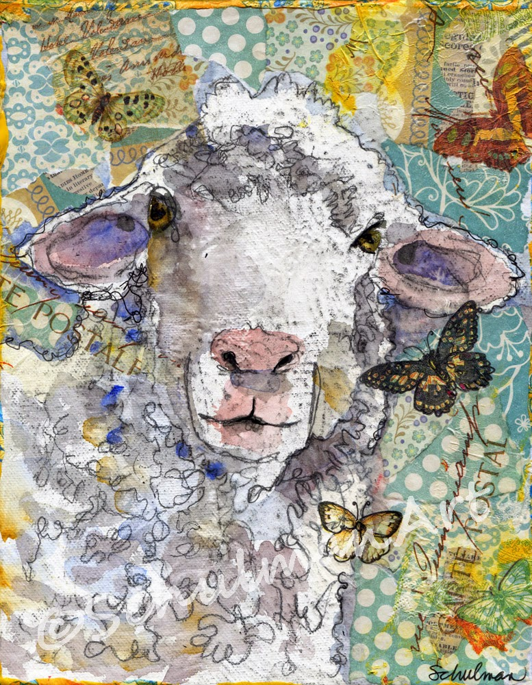 collect nursery wall art https://www.etsy.com/listing/91691033/lamb-art-white-sheep-farm-animal