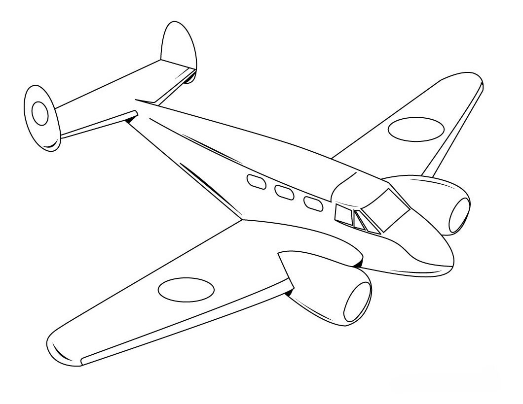 Free airplane coloring pages for Plane coloring page