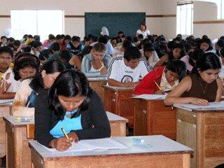 el 95 % de profesores asistio a examen de contrato docente 2012 en