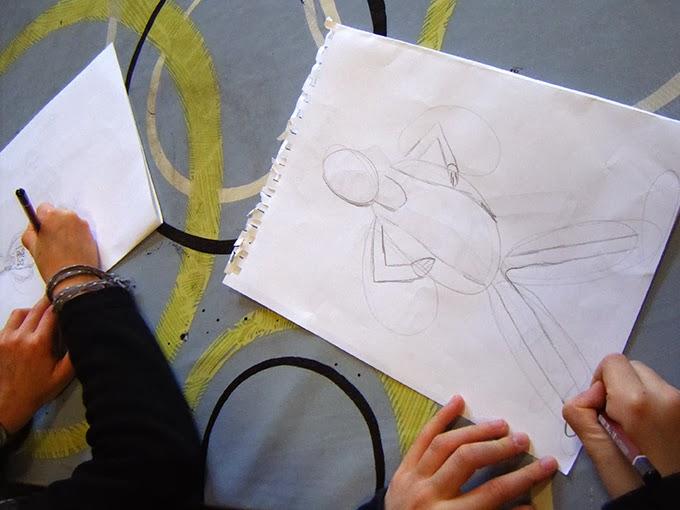 dessin et peinture  u00e0 l u0026 39  u00e9cole  le mod u00e8le vivant  croquis de personnage