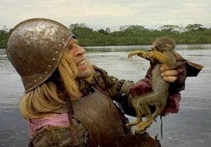 Klaus Kinski en Aguirre, la cólera de Dios