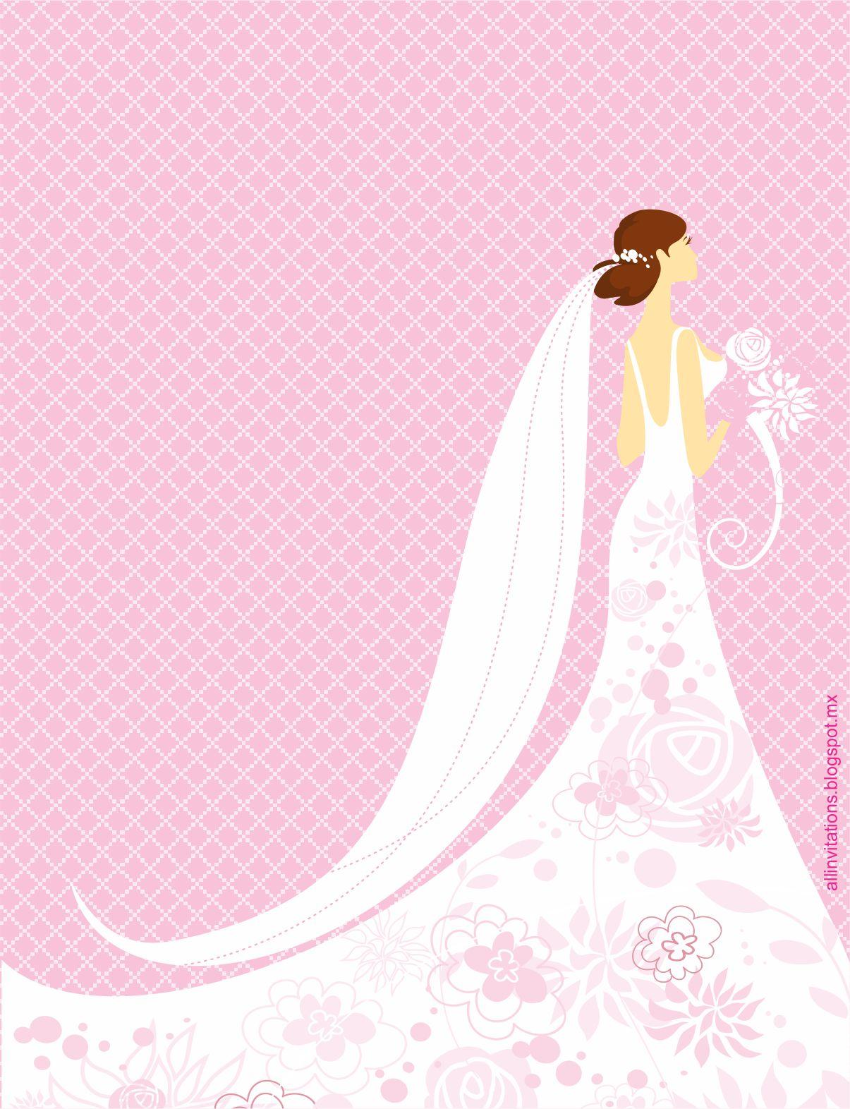 Novia con Vestido Adornado con Flores | All Invitations