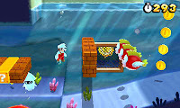 Underwater level in Super Mario 3D Land