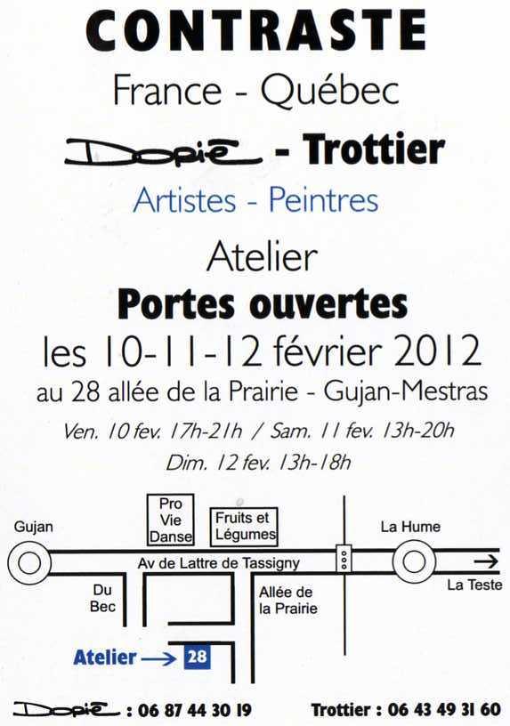 Fran ois trottier artiste peintre janvier 2012 for Le pere du meuble montreal