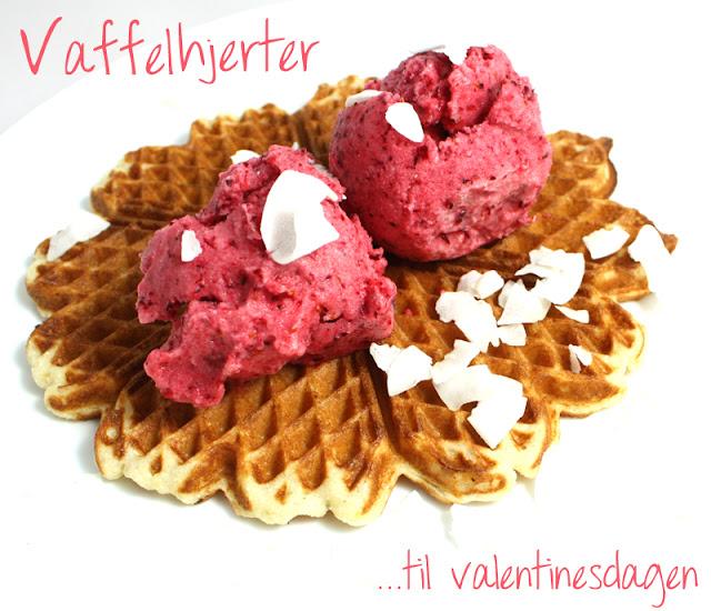 Oppskrift Kokosvafler Veganske Vafler Valentinsdagen Valentinsvafler Kokosnøttpulver Kokospulver Coconut Powder Kokosmasse Soyamelk