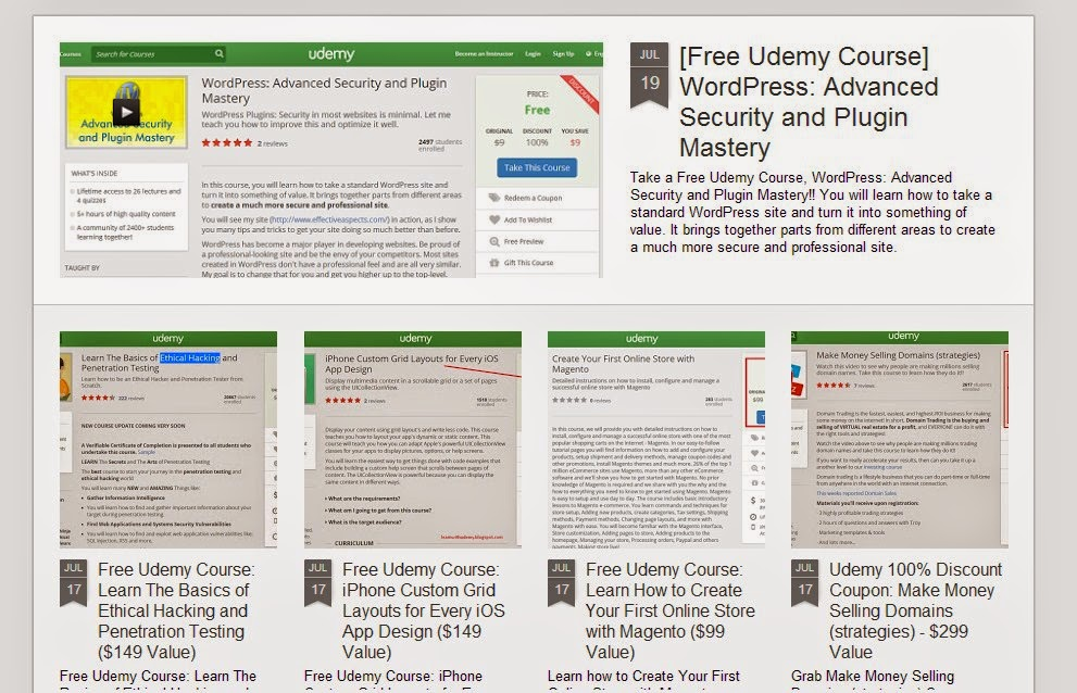 Get udemy coupons