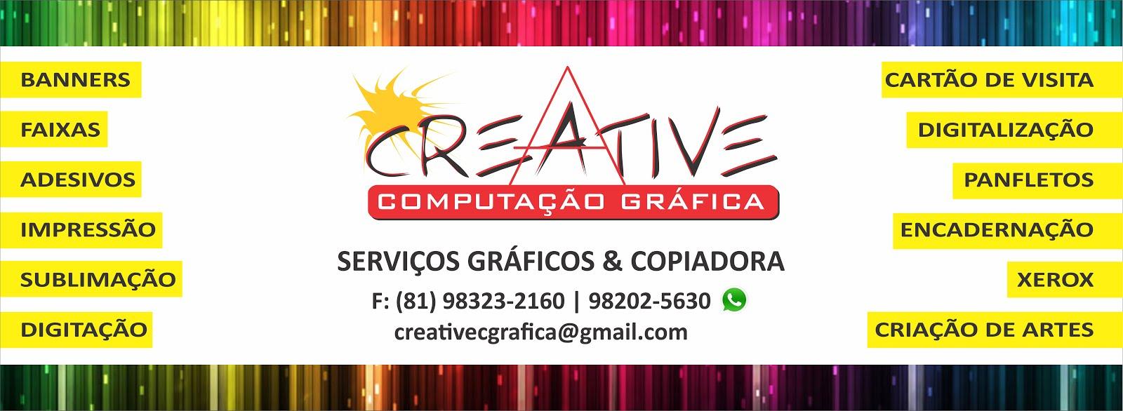 Creative Computação Gráfica | Serviços gráficos em geral