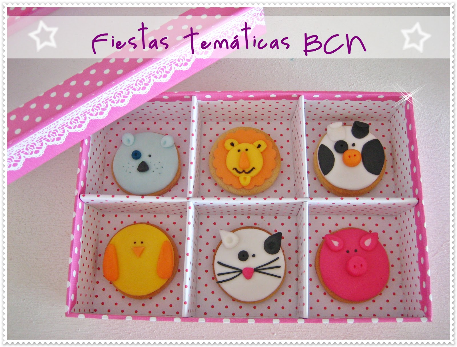 Galletas animales fondant