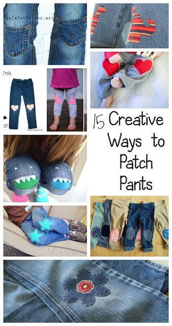 DIY patching pants sewing