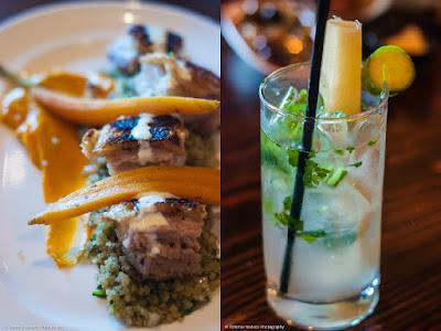 Mojito and pork belly at Mesa Latin Kitchen Durham