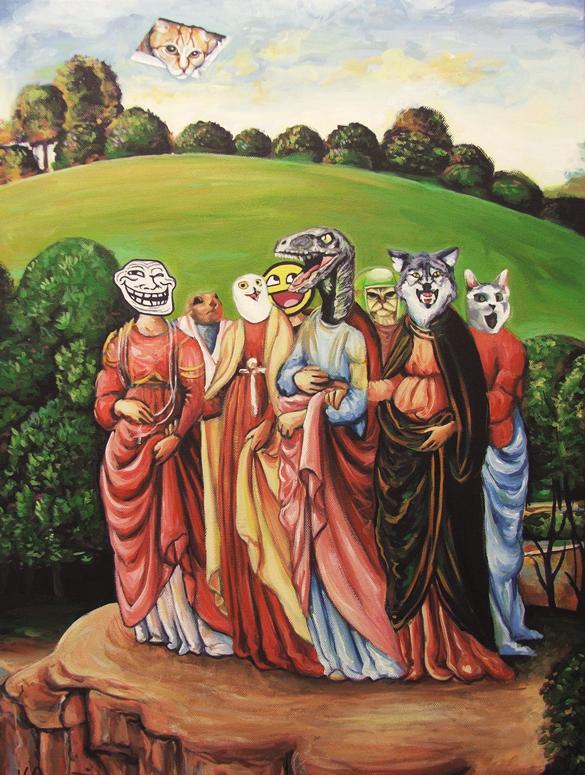 A fusão da cultura pop com obras de arte 1