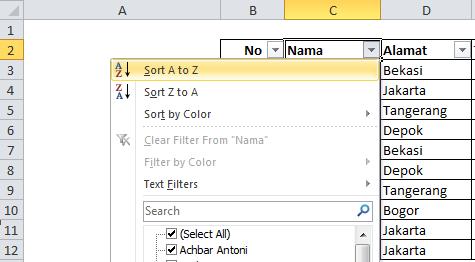 Penggunaan Sort and Filter Atau Mengurutkan Pada Microsoft Office Excel | Belajar Excel | Tutorial Excel