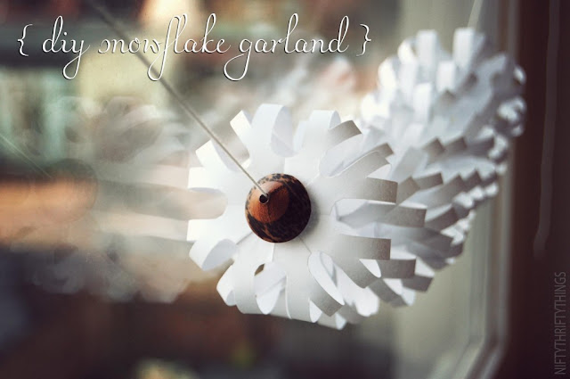 Be different act normal diy snowflake garland