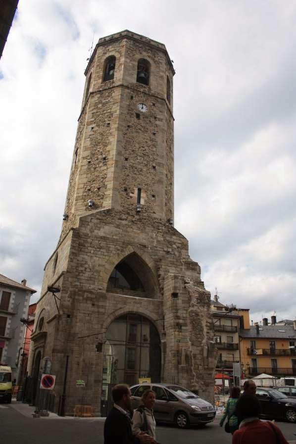 Santa Maria bell tower in Puigcerda